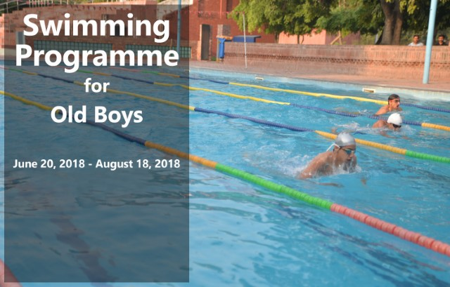 Swimming Programme for Old Boys (Summer Vacations)